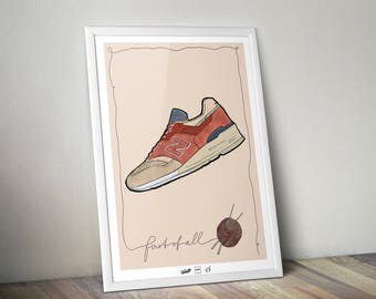 """Sneaker Illustration """"New Balance - First of all"""""""