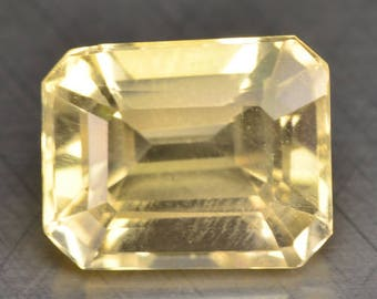 3.80 Cts Spectating Citrine Natural Loose Gemstones Octagon Shape 10 x 8.2 x 6.9 mm