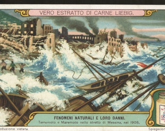 Liebig Victorian trade card storm destructions