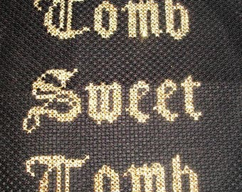 Tomb Sweet Tomb Gothic Halloween cross stitch pattern