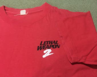 Vintage 90s Lethal Weapon 2 shirt, vintage lethal weapon shirt,Mel gibson