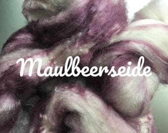Combed Mulberry silk hand dyed No. 192