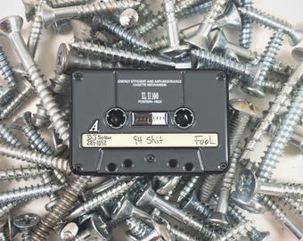 Dj Screw Grey Tape Screw Tape enamel pin cassette