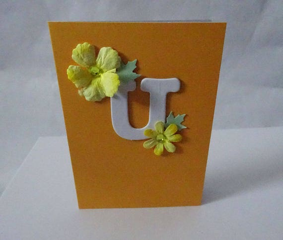 "Monogram/Initial Card - Letter ""U"""
