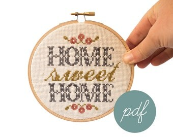 Home Sweet Home, Foyer, Modern Cross Stitch Pattern *PDF Only
