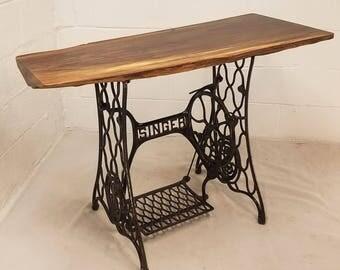 Live Edge Black Walnut Sewing Table