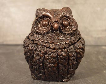 Black Forest style Owl Jar