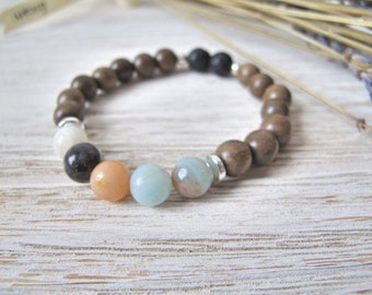Essential Oil Diffuser Bracelet, Aromatherapy Jewelry, THE LAUR, Mother's Day Gift, Stretch Bracelet, Diffuser Jewelry, FoxAndBearEssentials