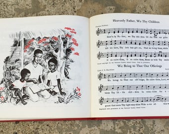 Vintage Children's Hymnal, 1958, Our Hymns of Praise, Illustrated