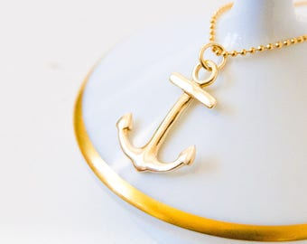ANCHOR Necklace (gold-plated, 925 Sterling Silver)