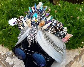 Quartz and Swarovski Festival Crown