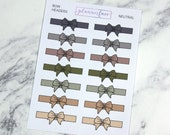 Bow Headers - Neutral | 14 Bow Dividers, Bow Headers, Bow Planner Stickers (Q061)
