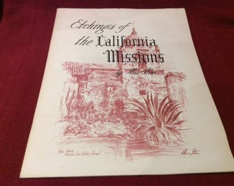 Alec Stern Etchings of the California Missions 1961