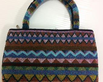 Vintage Beaded Small Handbag 1980's