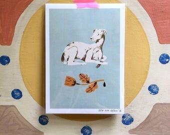 Greyhound - A5 Print