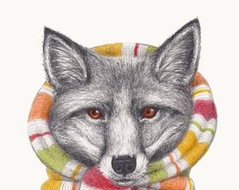 Winter Woollies Fox Print - Made to Order