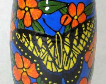 Swallowtail Vase w/Orange Flowers(Item#79)