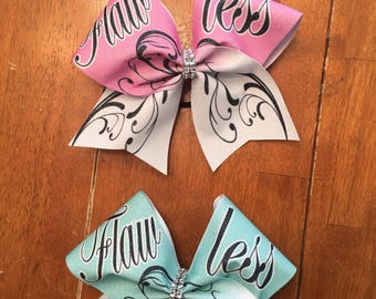 Flawless sublimated glitter bow