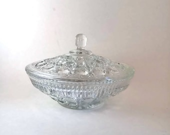 Indiana Glass Candy Dish  Windsor Pattern