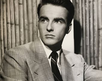Monty Clift, Vintage Hollywood Celebrity Photograph C