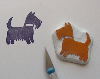 Dog rubber stamp, dog stamp, terrier rubber stamp, westie rubber stamp, animal stamp, pet stamp, West highland terrier stamp, rubber stamp