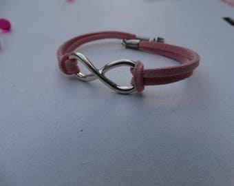 Pink infinity bracelet