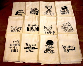 Cheeky Sayings Dish Towels