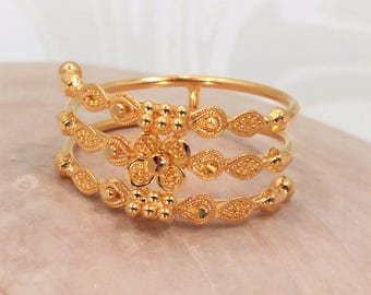 """22K Solid Yellow Gold RING Size 7.5 ~ 7.75 For Teens Women GENUINE & HALLMARKED """"GoldShine"""""""
