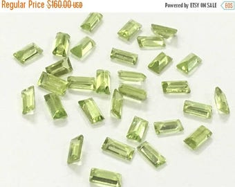 Exclusive Quality Peridot Baugette Cutstones 3x6 mm approx , 13 carets , 30 piece