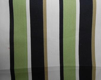 Green/Black Striped Outdoor Fabric, Indoor & Outdoor Decor