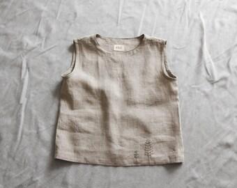 Linen blouse linen women's clothing linen tank linen top grey linen blouse embroidered summer blouse linen t-shirt sleeveless shirt