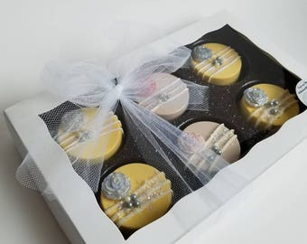 Wedding Oreos, Chocolate Covered Oreos, Wedding Gift Box, Mothers Day gift