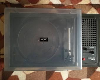 "Portable record player Bulgarian gramophone Old turntable Vinyl record player Working turntable phonograph BG Gramophone ""Resprom"" Gift"