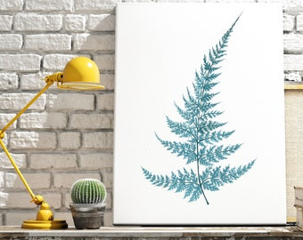 Fern Print, Fern Illustration, Fern Leaf Art, Botanical Print, Botanical Illustration, Botanical Painting, Tropical Leaf print
