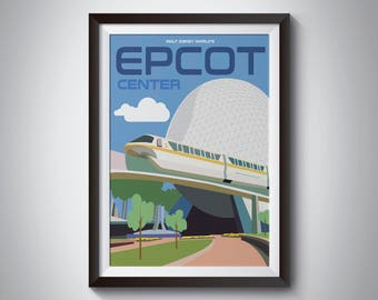 Epcot   Travel Poster   Instant Download