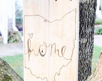 Home State Pallet Sign | Personalized Wood Decor