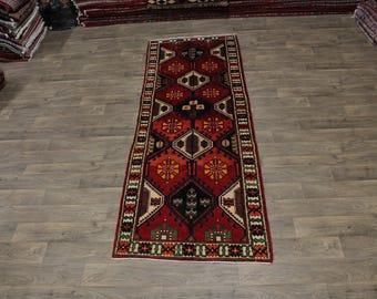 Exceptional Tribal Runner Bakhtiari Isfahan Persia Area Rug Oriental Carpet 4X10