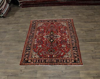 Lovely Handmade Large Tribal Lilian Hamedan Persian Rug Oriental Area Carpet 5X7