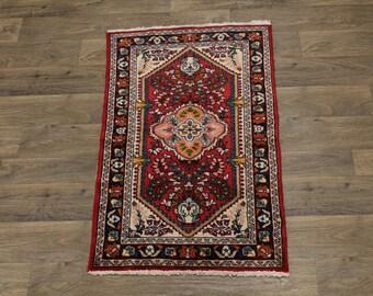 Charming Small Handmade Lilian Hamedan Persian Rug Oriental Area Carpet 2ʹ5X4
