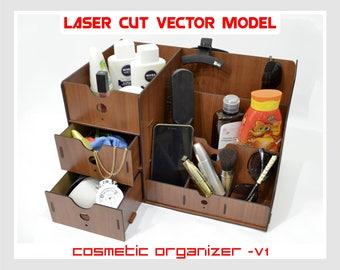 wood organizer, plywood organizer, cosmetic box, cosmetic organizer, makeup storage, lipstick organizer, cosmetic case, makeup organizer