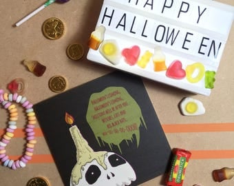 Halloween's Coming  - Square Greetings Card