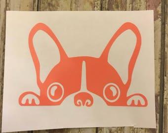 Boston Terrier Car Decal/ Boston Terrier Laptop Decal/ Boston Terrier Decal/ Boston Terrier Cup Decal/ Boston Terrier