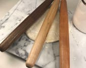 """French and Asian Rolling Pins / 24"""", 18"""",12"""" or 12"""" x 1-1/4 / Walnut, Maple and Cherry"""