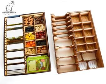 Organizer for Agricola™ Board Game, Agricola™ Insert, Agricola™ Box, Board Game Organizer, Board Game Insert, Wooden Organizer