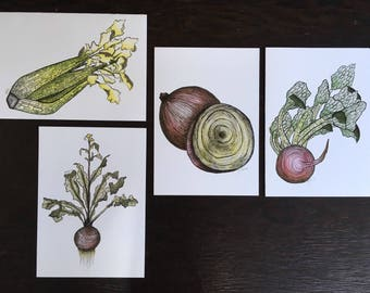 Vegetable Greeting Cards With Seeds