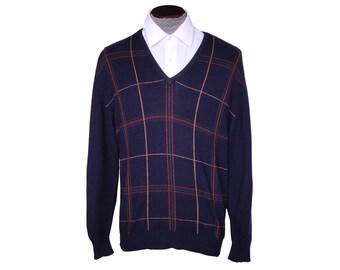 Vintage Pringle Scottish Cashmere Sweater Mens Pullover Style Size L 46