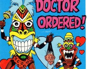 1966 Topps Monster Insult Postcard #19 Doctor Ordered Jack Davis Art Card
