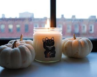 Campfire - 6oz Hand-poured Soy Candle - Nine Lives Candles Fall Line - Handmade in Brooklyn