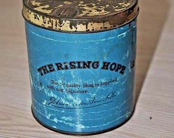 Antique Rising Hope Van nelle  tobacco tin box  Holland