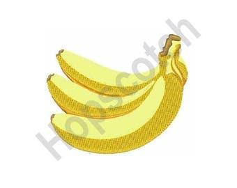 Bunch Of Bananas - Machine Embroidery Design - 4 X 4 Hoop, Fruit, Snack, Treat, Health Food, Organic